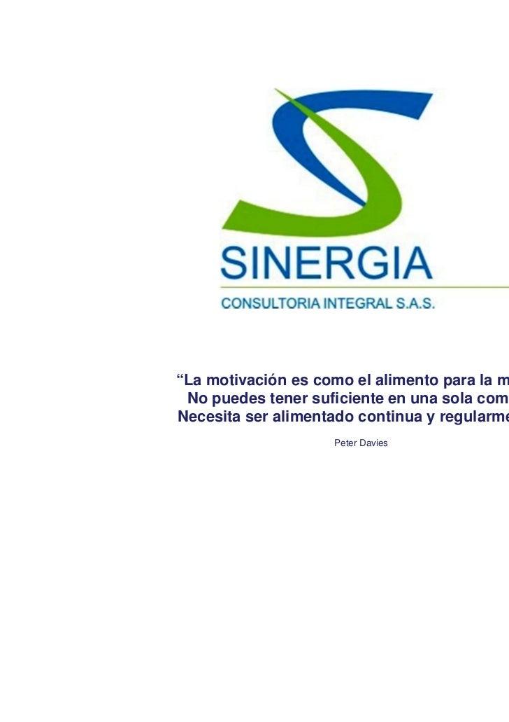 PORTAFOLIO DE SERVICIOS - SINERGIA CONSULTORIA