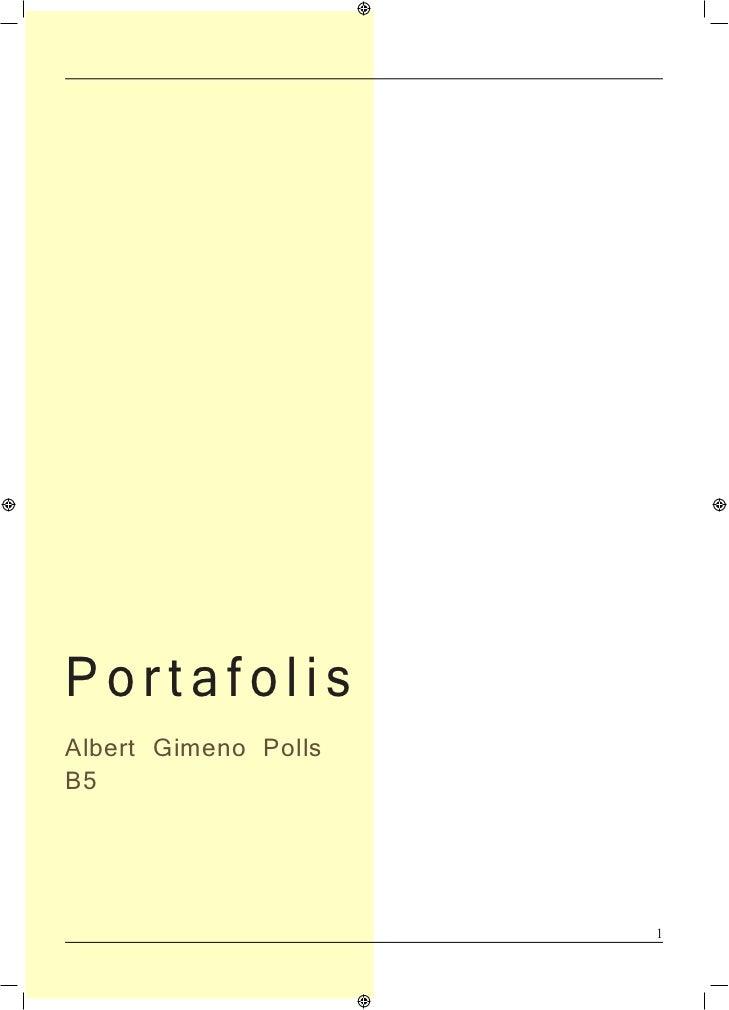 PortafolisAlbert Gimeno PollsB5                      1