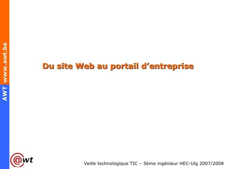 Du site Web au portail d'entreprise