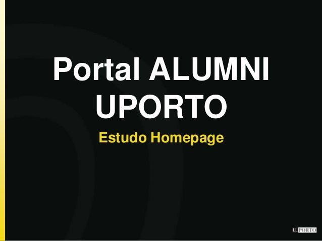 Portal ALUMNI UPORTO Estudo Homepage