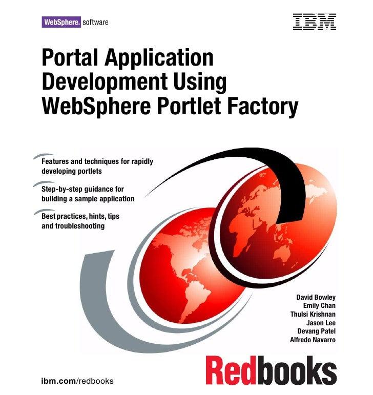 Portal application development using Websphere Portlet Factory
