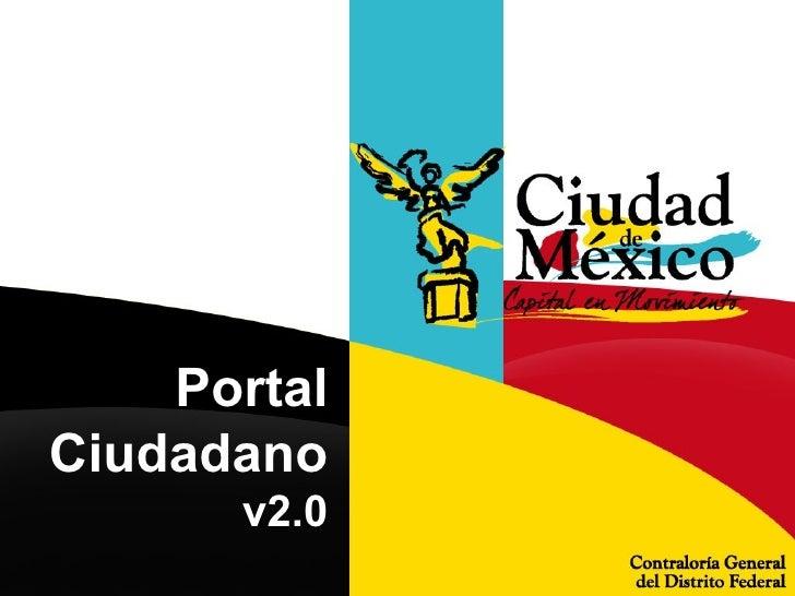 Portal Ciudadano  v2.0