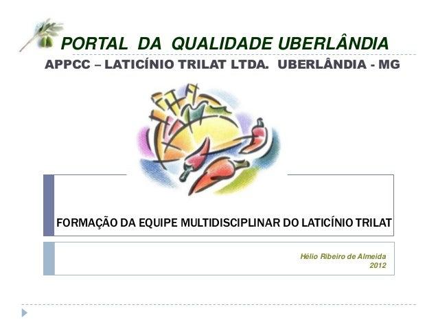 Portal da qualidade uberlândia appcc trilat   treinamento
