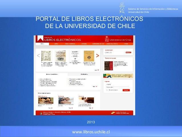 Portal de libros electrónicos de la Universidad de Chile