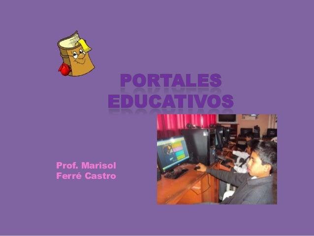Prof. Marisol Ferré Castro