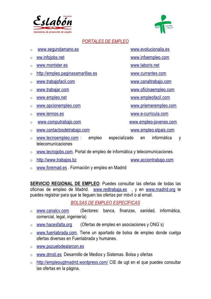 Portales empleo actualizado 10 12 2010