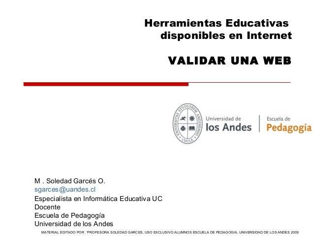 Herramientas Educativas                                                    disponibles en Internet                        ...