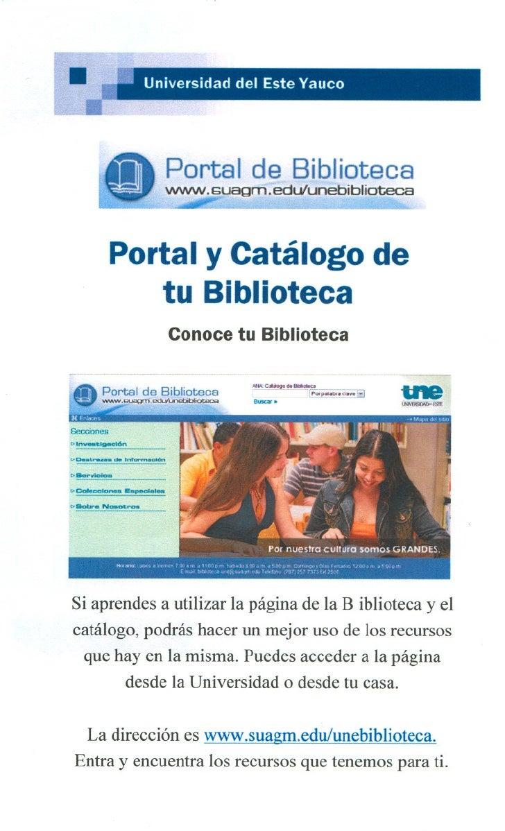 Portal y Catalogo de tu Biblioteca