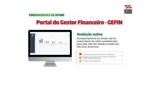 Portal do Gestor Finaceiro - GEFIN