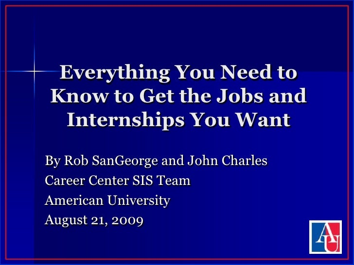 Everything You Need to Know to Get the Jobs and Internships You Want<br />By Rob SanGeorge and John Charles<br />Career Ce...