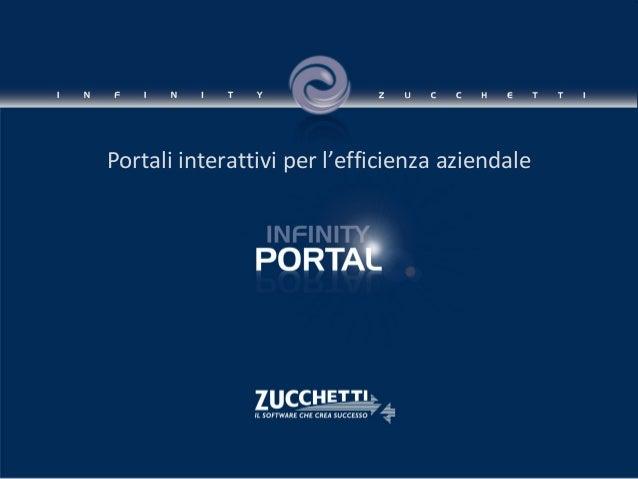 Infinity Portal Zucchetti: il software per la creazione di portali aziendali interattivi.