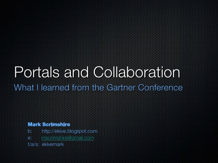 Portals And Collaboration