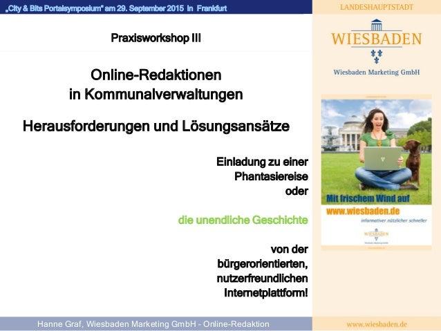 """WIESBADEN""""City & Bits Portalsymposium"""" am 29. September 2015 in Frankfurt Martin Michel Geschäftsführer Praxisworkshop III..."""