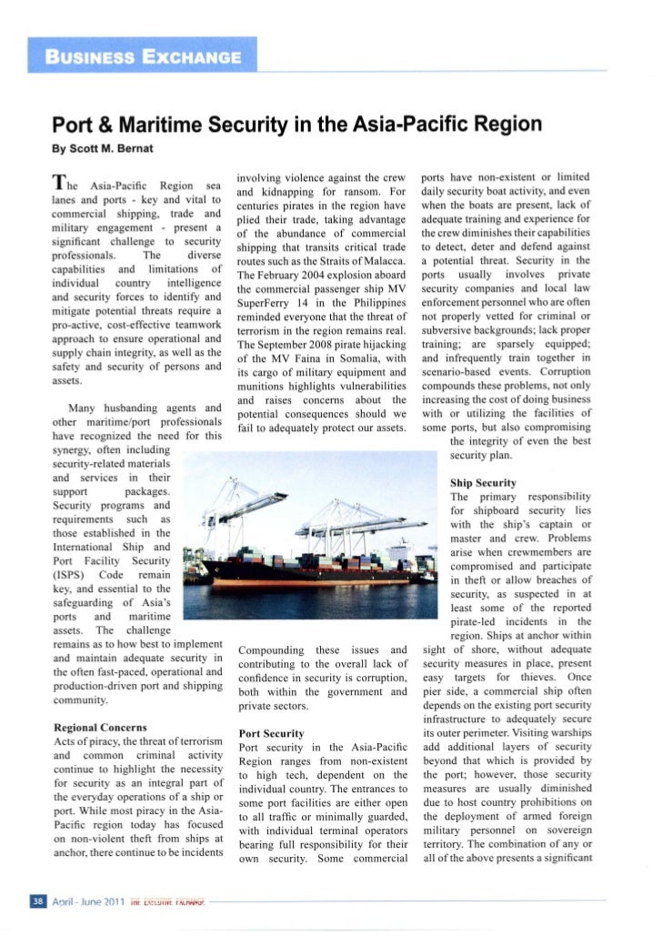 Port and Maritime Security in the Asia-Pacific Region - American Chamber of Commerce Indonesia - The Executive Exchange magazine - 2011