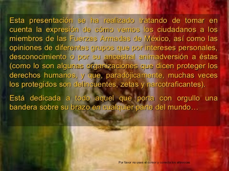 Esta presentación se ha realizado tratando de tomar en cuenta la expresión de cómo vemos los ciudadanos a los miembros de ...