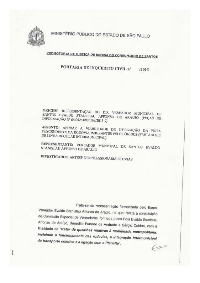 Portaria Inquerito Civil 5861/2013