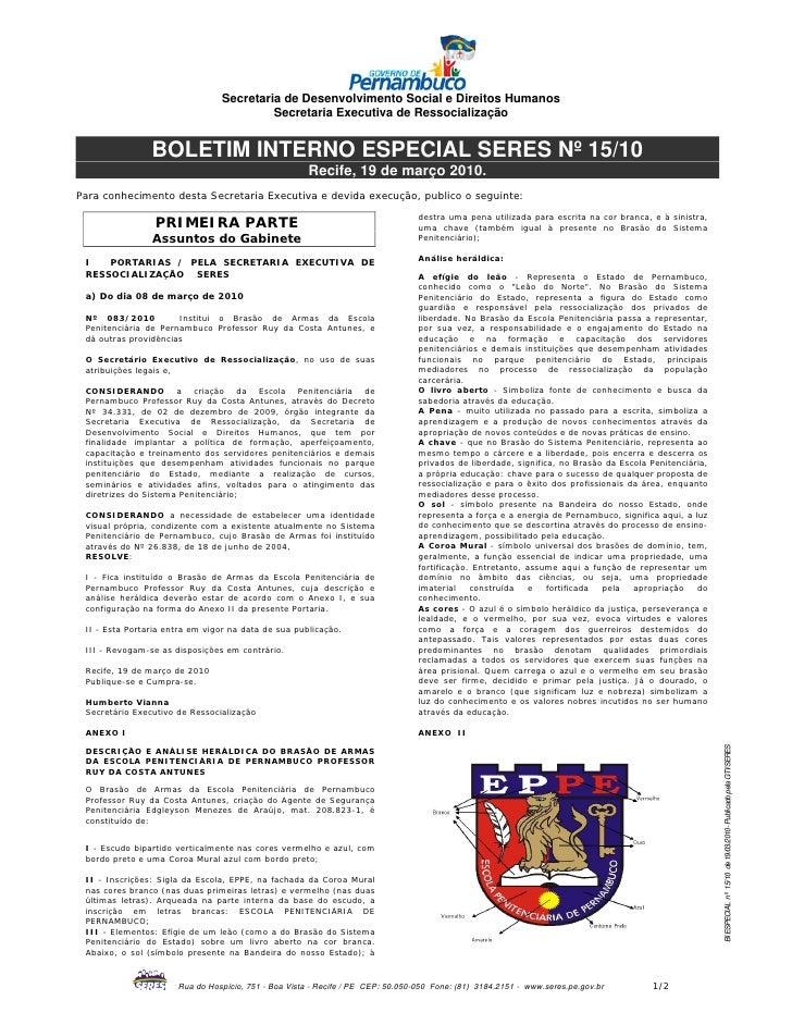 Secretaria de Desenvolvimento Social e Direitos Humanos                                         Secretaria Executiva de Re...