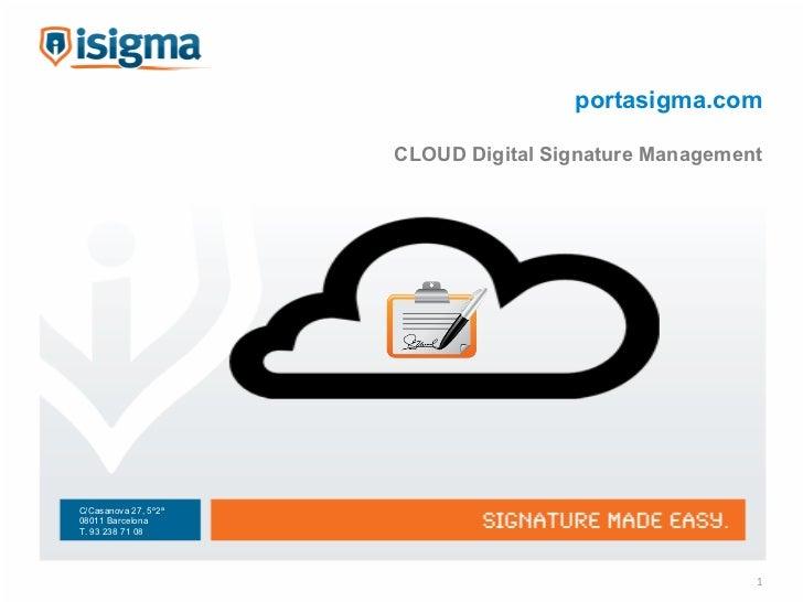 portasigma.com CLOUD Digital Signature Management