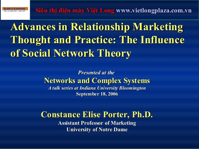 Advances in Relationship MarketingAdvances in Relationship Marketing Thought and Practice: The InfluenceThought and Practi...