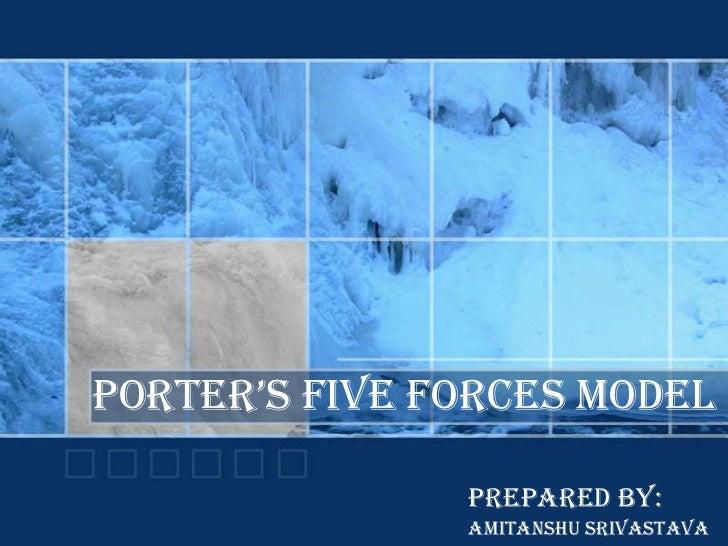 PORTER's FIVE FORCEs MODEL                 PREPARED BY:                AMITANSHU SRIVASTAVA