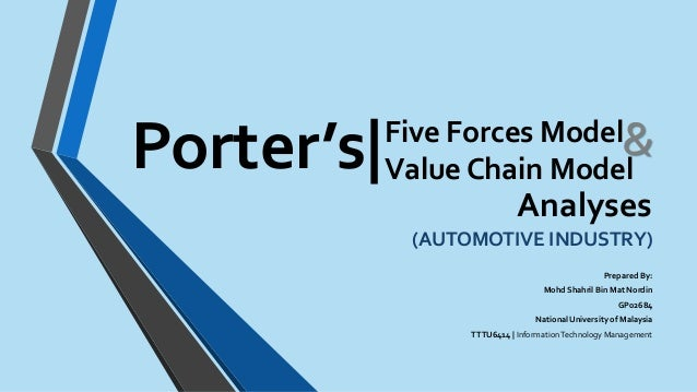 five forces car industry Internal and external analysis on automobile industry design by dóri sirály for prezi bargaining power of buyer is high the size of customer segmentation is large.