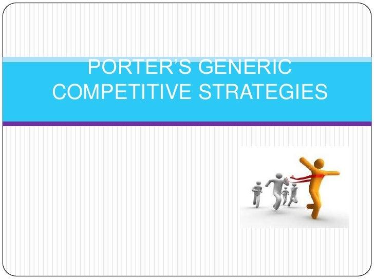 Porter's generic competitive strategies