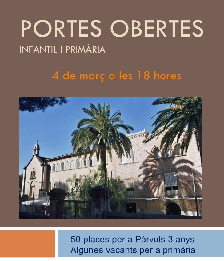 Portes  Obertes I  Places 2008 2009