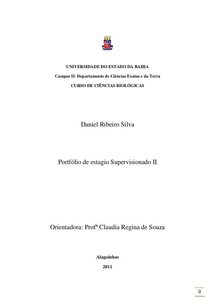 UNIVERSIDADE DO ESTADO DA BAHIA Campus II- Departamento de Ciências Exatas e da Terra         CURSO DE CIÊNCIAS BIOLÓGICAS...