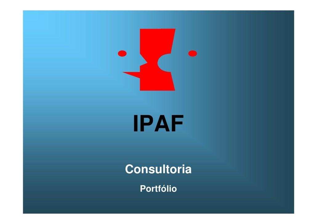 IPAF Consultoria   Portfólio