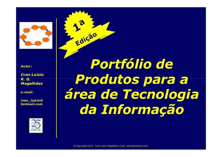 Portfólio de Produtos para a área de TI