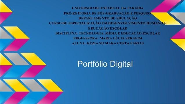 UNIVERSIDADE ESTADUAL DA PARAÍBA  PRÓ-REITORIA DE PÓS-GRADUAÇÃO E PESQUISA  DEPARTAMENTO DE EDUCAÇÃO  CURSO DE ESPECIALIZA...