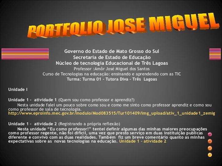 Governo do Estado de Mato Grosso do Sul Secretaria de Estado de Educação Núcleo de tecnologia Educacional de Três Lagoas P...