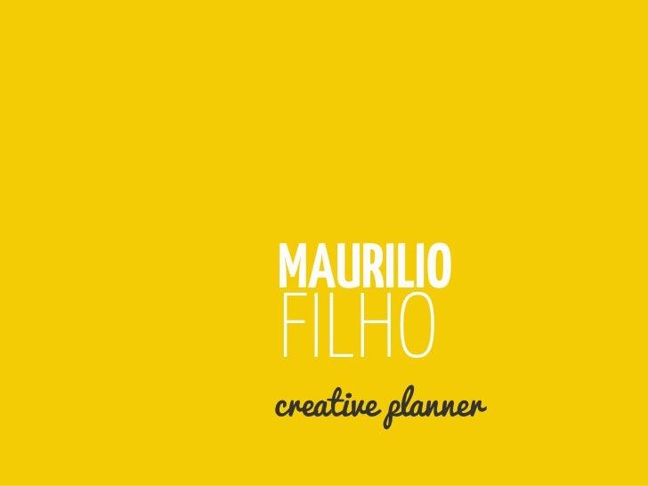 Portfólio Planner - Maurilio Filho