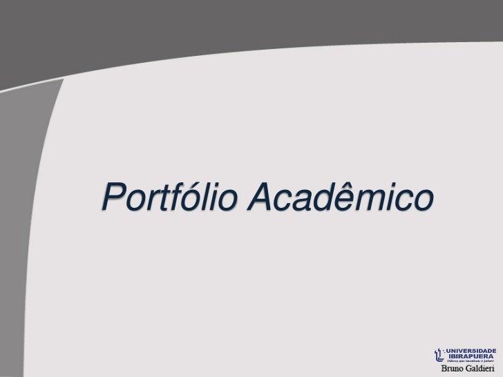 Portfólio Acadêmico