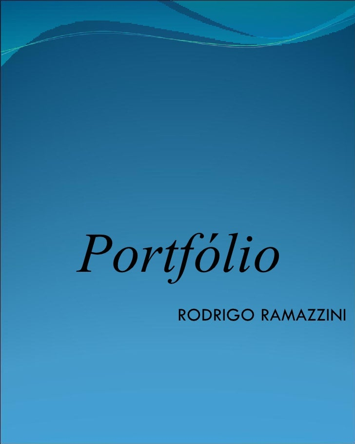 Portfólio RODRIGO RAMAZZINI