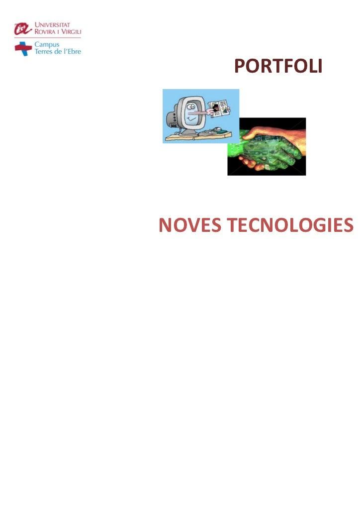 PORTFOLINOVES TECNOLOGIES                         Diana Fandos Figueras                    Magisteria Educació Infantil   ...