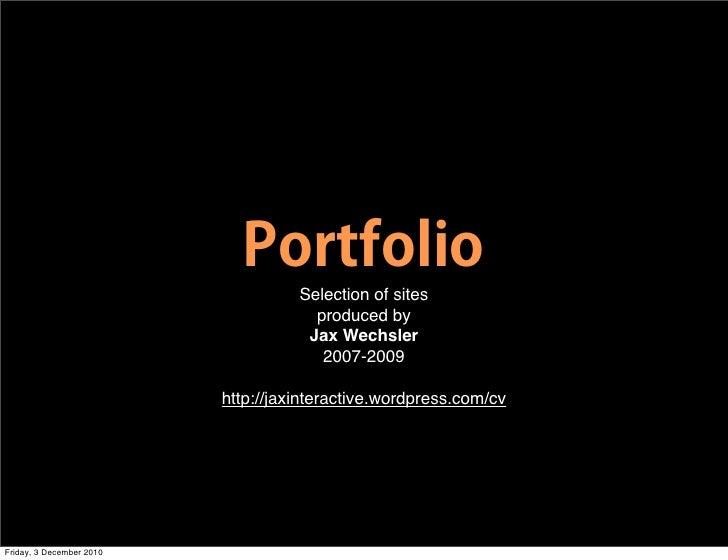Portfolio 2007-2009