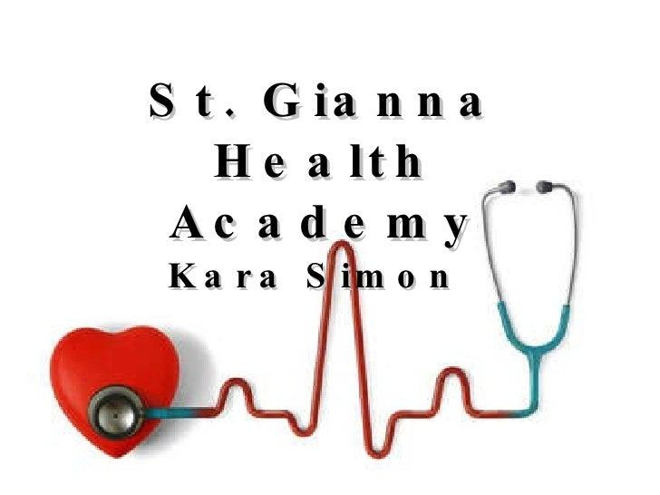 Health Academy Portfolio by Kara Simon