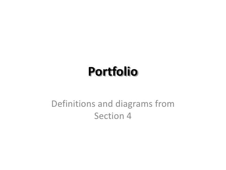 Diagrams & Definitions