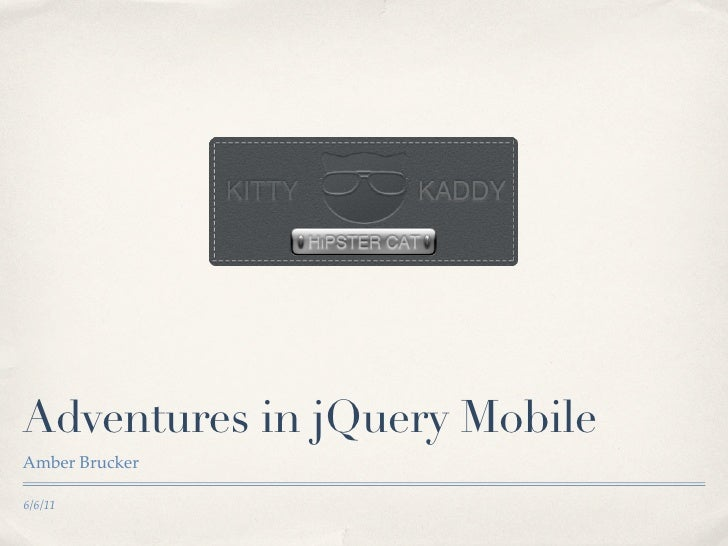 Adventures in jQuery Mobile