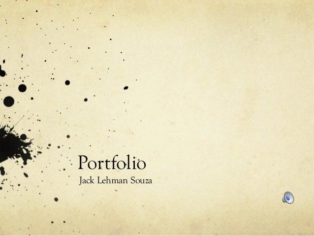 Portfolio Jack Lehman Souza