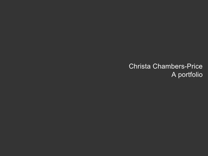 Christa Chambers-Price A portfolio