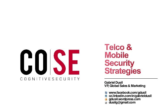 Cognitive Security - Telco & Mobile Security ('12)