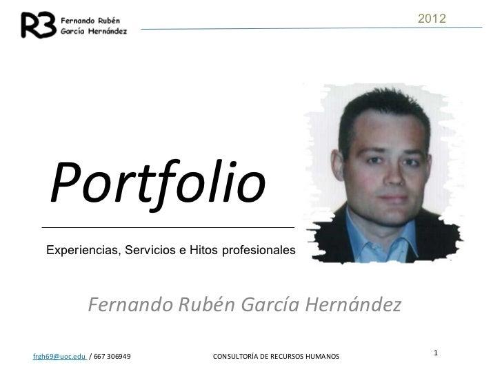Portfolio   fernando rubén garcía hernández - 2012b