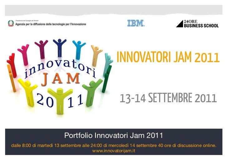 Portfolio innovatori jam2011