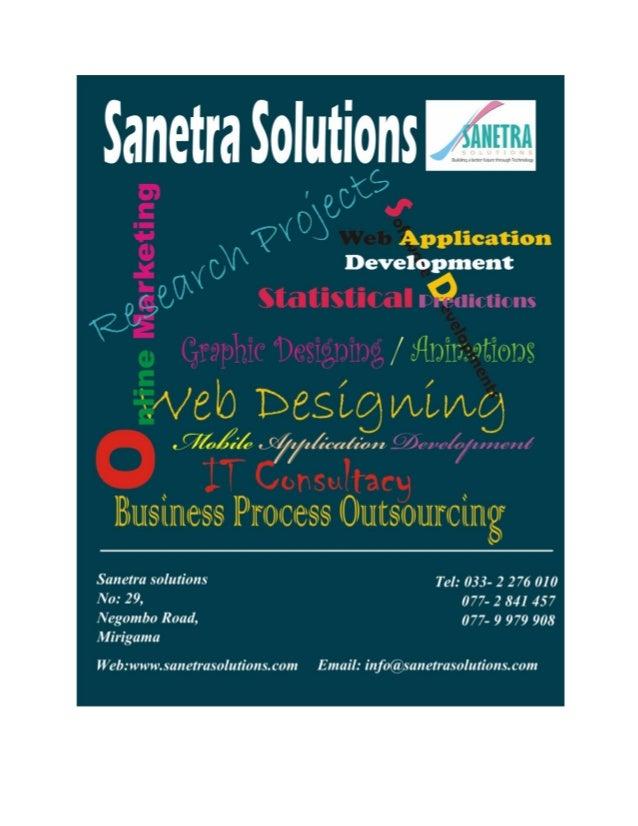 Portfolio: Sanetra Solutions