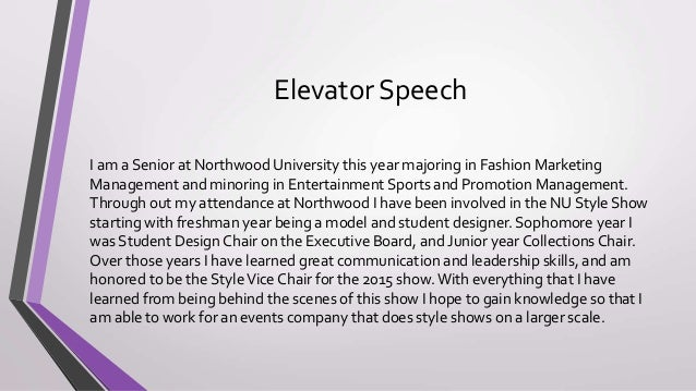 my resume elevator speech Other uses for your elevator speech  what better way to help everyone who has your business card to remember you than by referring to your elevator speech resume.