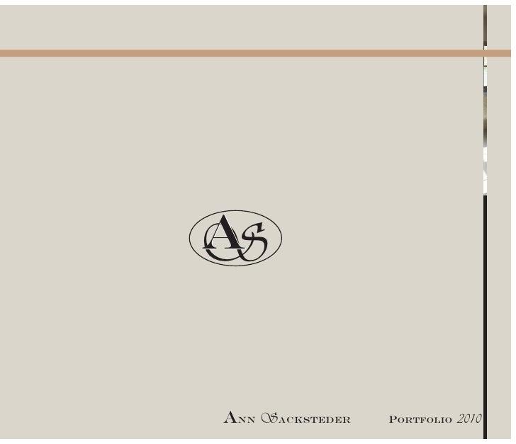 A S  Ann Sacksteder   Portfolio   2010