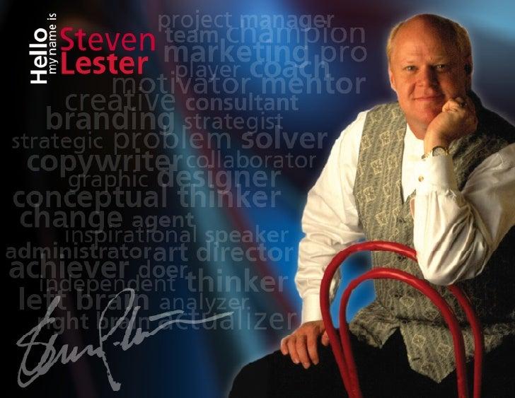 Steven Lester Creative Portfolio 2013