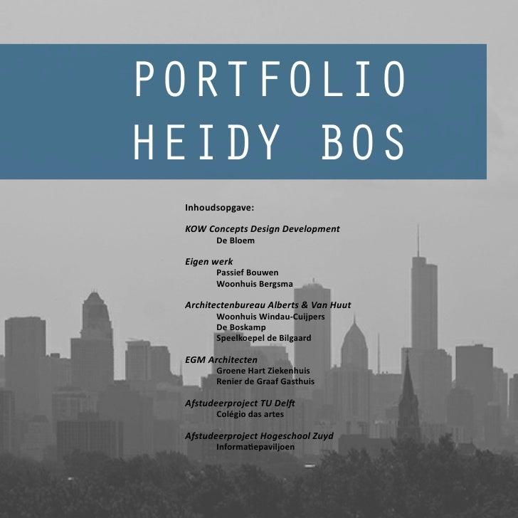 Portfolio Heidy Bos